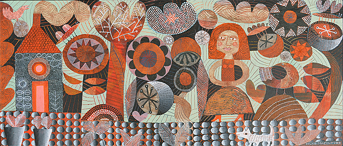 p74 woman in orange garden max 700